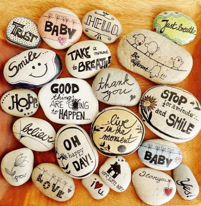 Idées d'animations baby shower la bénédiction des pierres