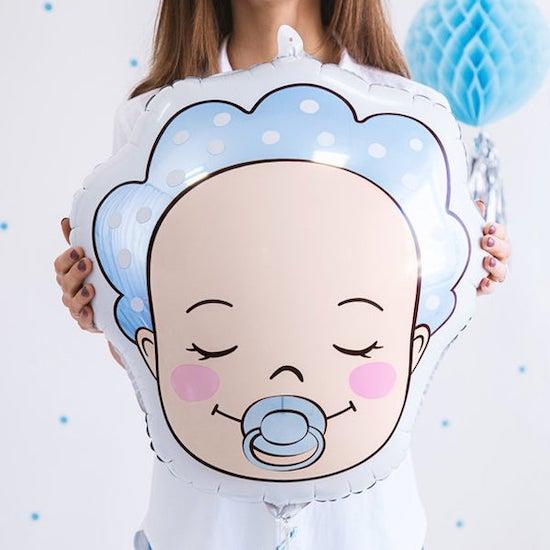 Ballon bébé garçon pour moins de 5 euros pour décorer et organiser une baby shower pas cher - Créatrice ETSY : supersweetparty