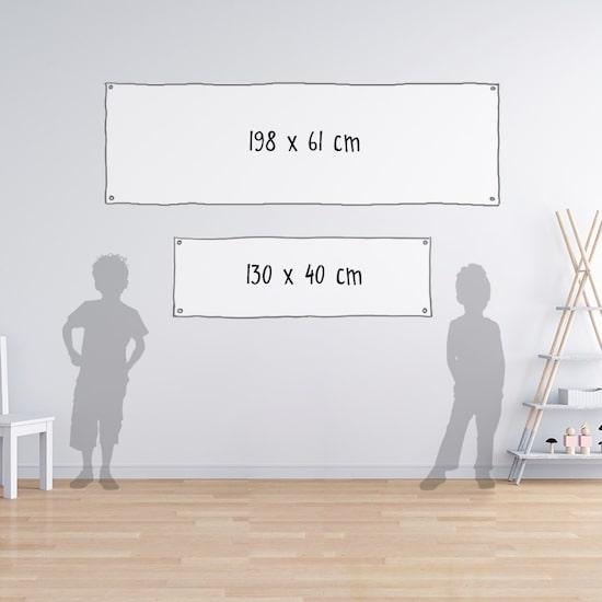 Bannière Baby Shower Fille à personnaliser avec son prénom ou sa date de naissance
