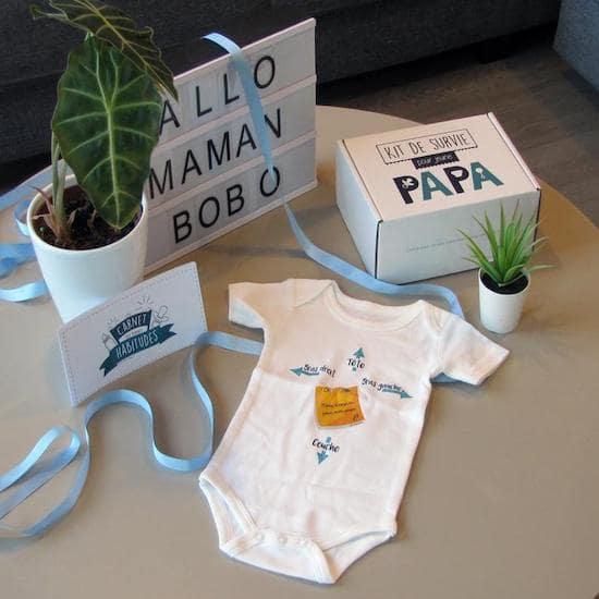 Kit de survie pour nouveau papa - Créatrice ETSY : BOITEAPAPA