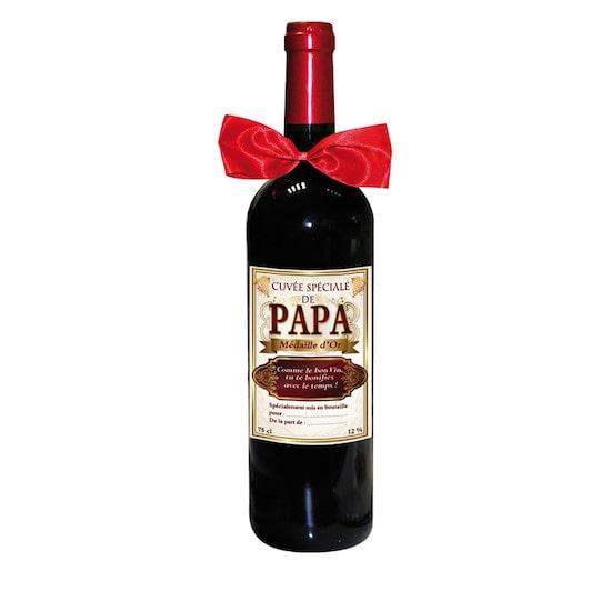 Bouteille de Vin Cuvée Spéciale de Papa : idée cadeau de naissance ou fête des pères