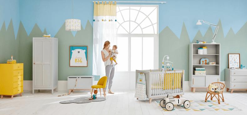 Chambre bébé Maisons du Monde collection GASTON au charme rétro