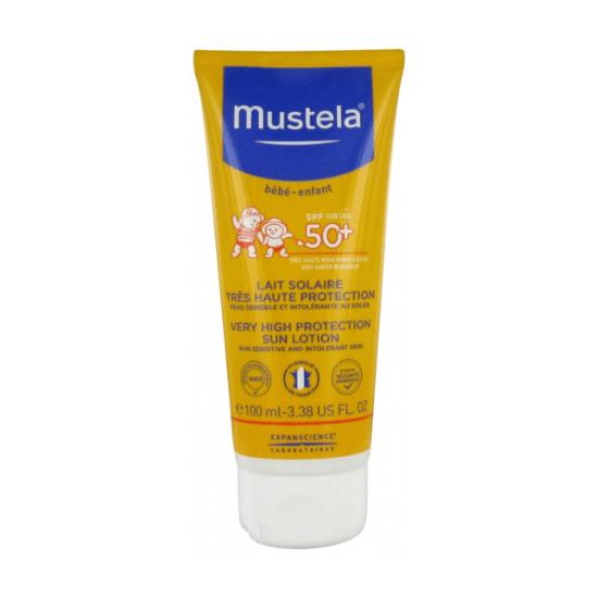 Crème solaire bébé Mustela Lait Solaire Très Haute Protection SPF50+