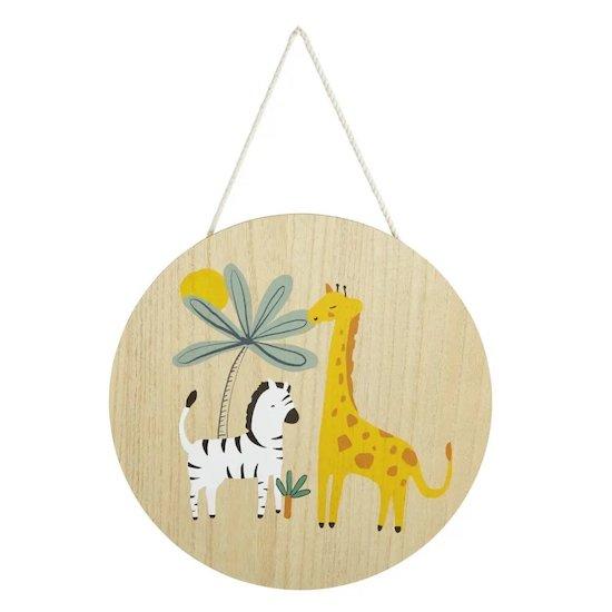 Déco murale ronde imprimé girafe et zèbre JUNGLE de Maisons du Monde