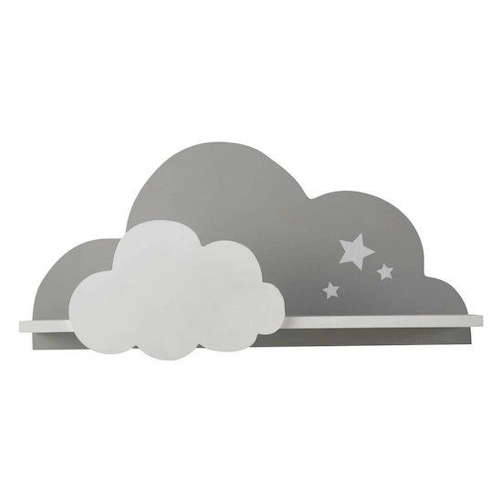 En forme de nuage, cette étagère murale nuage blanche et grise SONGE de Maisons du Monde complètera l'univers de bébé avec douceur et fantaisie