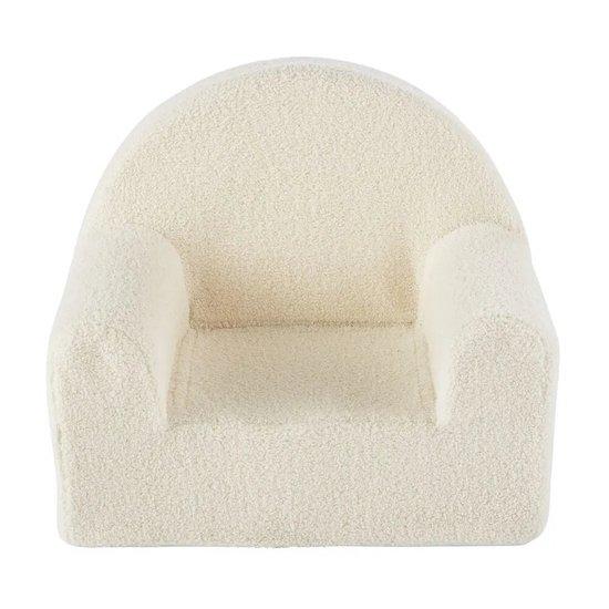 Ton enfant aura envie de se blottir dans ce fauteuil enfant à bouclettes blanches ALESUND de Maisons du Monde