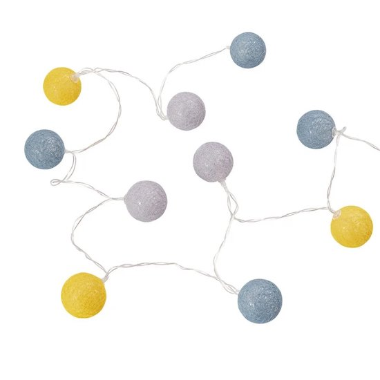 Guirlande lumineuse 10 boules GASPARD de Maisons du Monde pour créer une ambiance cosy dans la chambre de bébé