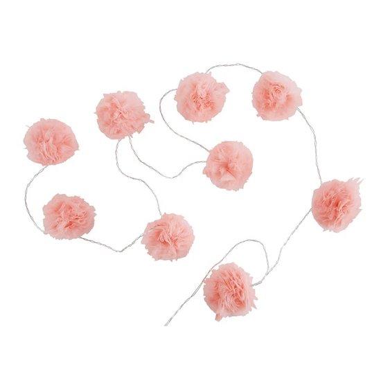 Guirlande lumineuse 9 LED pompons roses de la gamme CAPUCINE de Maisons du Monde