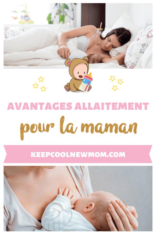 TOP 8 des bienfaits de l' allaitement maternel pour la maman - Un article à découvrir sur le blog : keepcoolnewmom.com