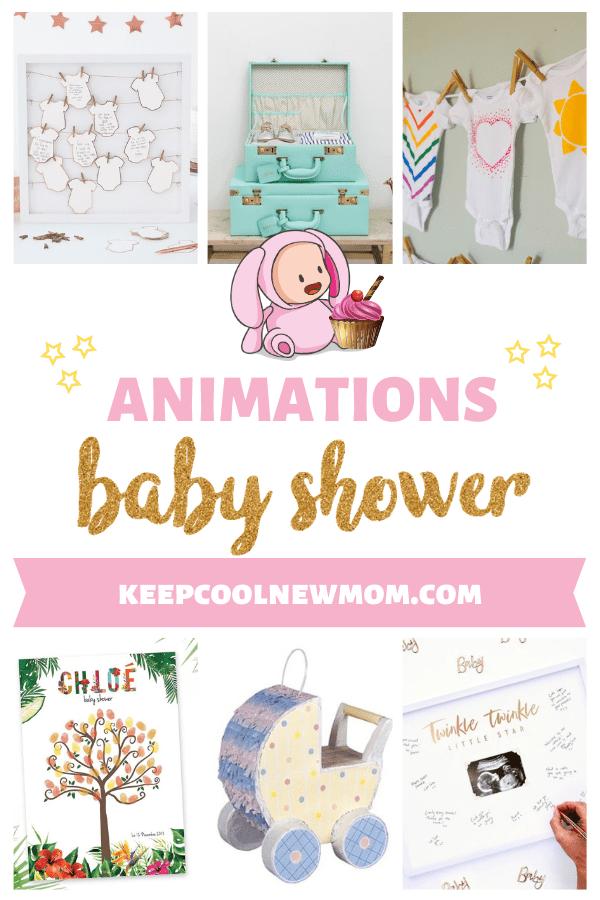 Découvre 26 idées d'animations baby shower - Un article à découvrir sur le blog : keepcoolnewmom.com