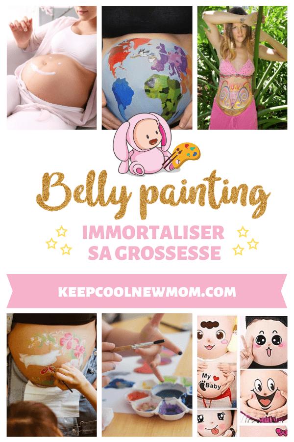 Le belly painting est une activité hyper tendance pour immortaliser le ventre rond des femmes enceintes - Un article à découvrir sur le blog : keepcoolnewmom.com