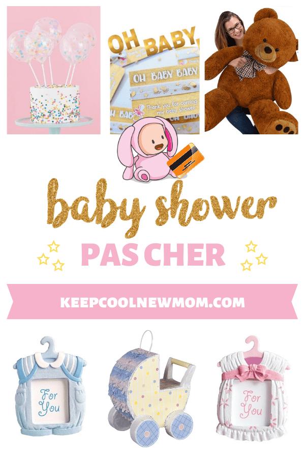 Idées pour organiser une baby shower pas cher - Un article à découvrir sur le blog : keepcoolnewmom.com