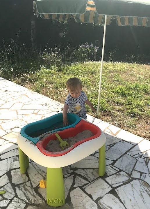 Table sable et eau Smoby pour bébé