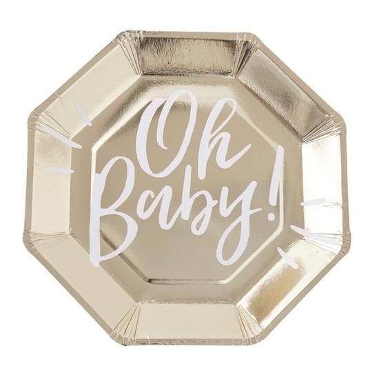 Kit Boîte à Fête Oh Babypour baby shower ou premier anniversaire de bébé