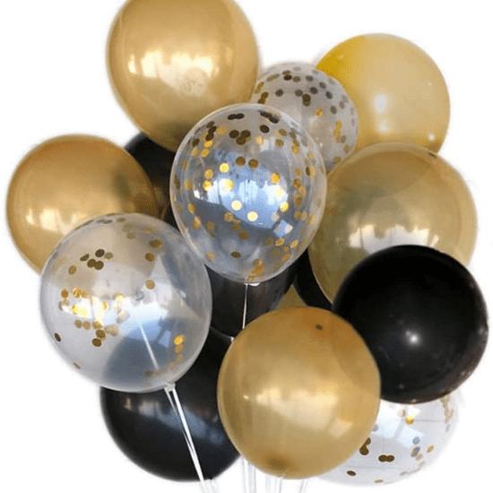 Kit ballons noir et or idéal pour une fête