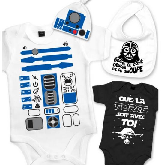 Cadeau de naissance rigolo : un kit bébé Star Wars de Petit Démon