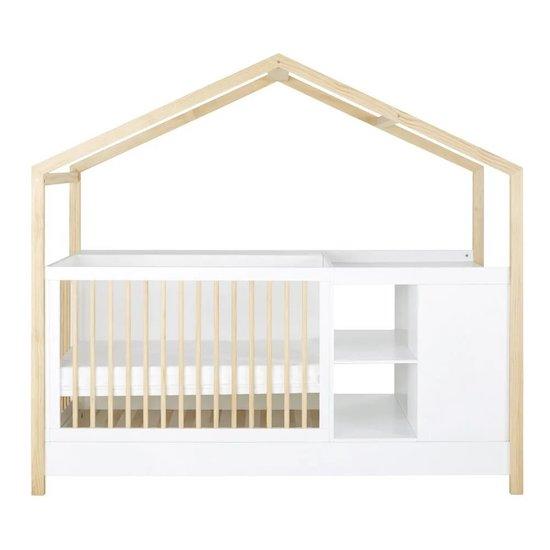 Pour la chambre de ton enfant, opte pour le lit bébé combiné évolutif bicolore ALESUND de Maisons du monde