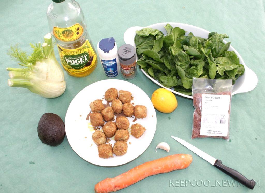 Recette Bowl de falafels, fenouil et sauce citronnée à l'avocat