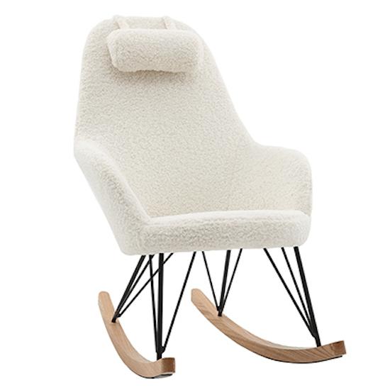 Rocking chair scandinave effet laine de Miliboo & Stéphane Plaza