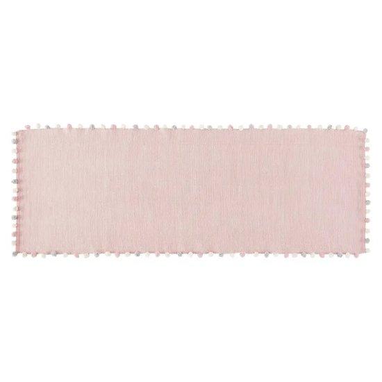 Tapis à pompons en coton rose BUCOLIQUE de Maisons du Monde