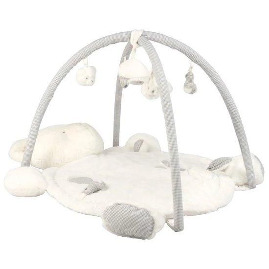 Adorable avec sa forme d'ours, ce tapis d'éveil amusera et éveillera les sens de bébé dès l'âge de 2 mois. Parfait pour compléter la chambre bébé Maisons du Monde collection GASPAR