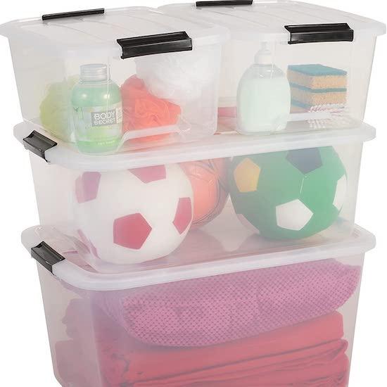 Boîtes de Rangement empilables avec fermeture : idéal comme contenant pour une time capsule pour bébé