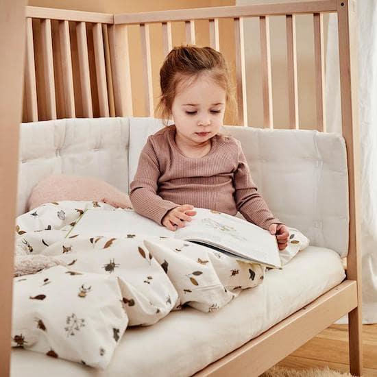 Linge de lit forêt pour lit bébé de la marque Leander