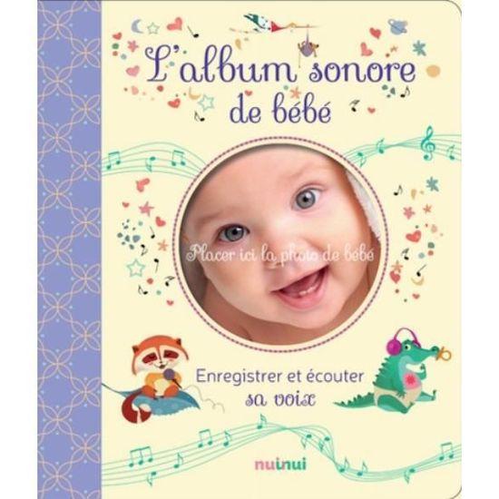 Album sonore de bébé à offrir comme cadeau de maternité ou mettre sur la liste de naissance