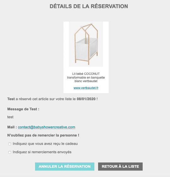 Explication réservation liste de naissance Milirose