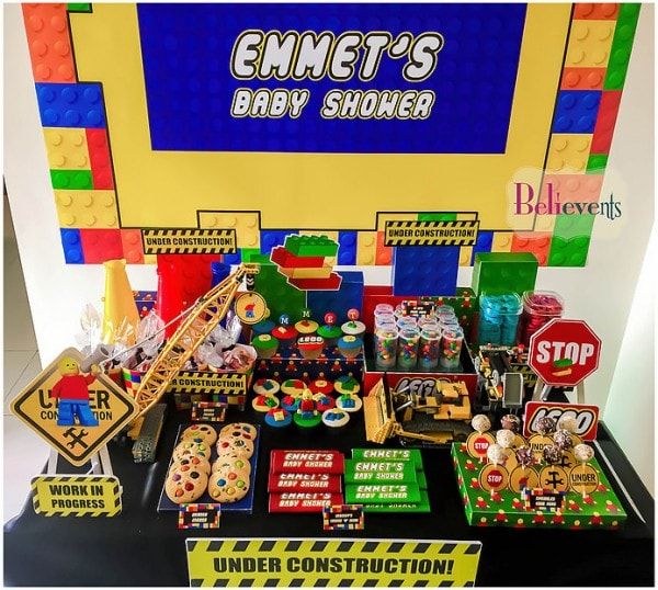 Baby shower garcon thème LEGO