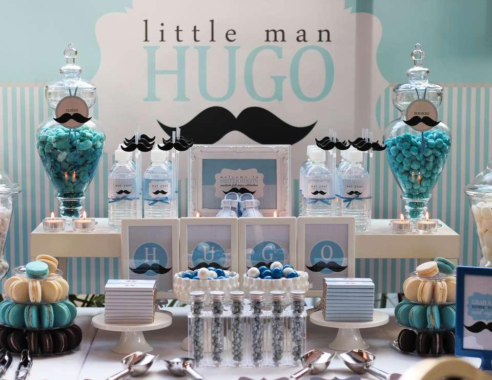Baby shower garcon thème moustache