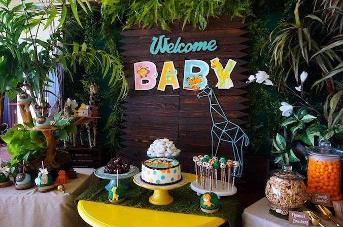 Baby shower neutre thème jungle