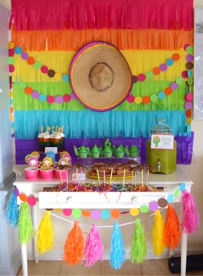 Baby shower neutre thème mexicain