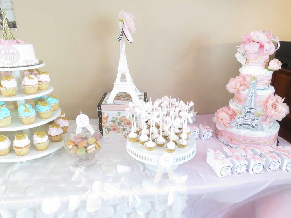 Baby shower fille thème Paris