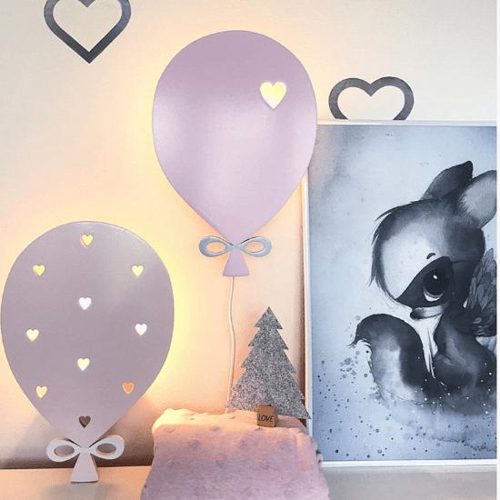 Ballon lumineux mural – PinkyKikyDesign
