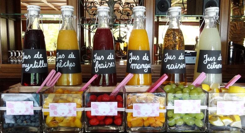 Cocktails sans alcool à base de fruits
