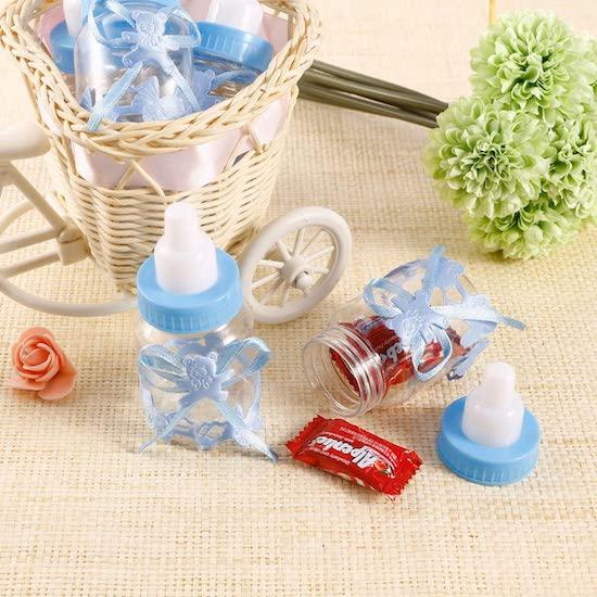 Biberons bonbons pour baby shower, baptême ou 1er anniversaire de bébé