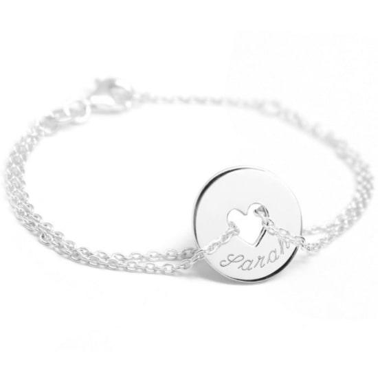 Bracelet Poème de la marque Petits Trésors est un magnifique cadeau de naissance personnalisé