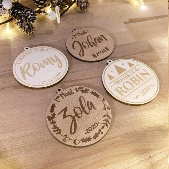 Boule de Noël en bois – RonWoodiy