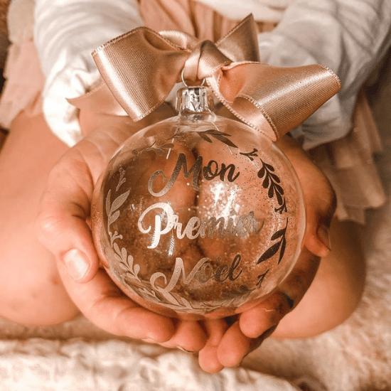 Boule de noël Mon premier Noël - Créatrice ETSY : CrapaudChou