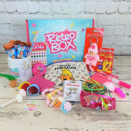 Coffret Rétro box à offrir comme cadeau maternité ou femmes qui adorent les années 80