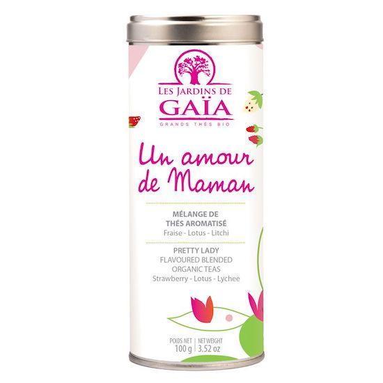 """Coffret Thé """"Un Amour De Maman"""" de la marque Les Jardins de Gaia fera un joli cadeau pour la fête des mères ou comme cadeau maternité"""