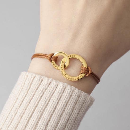 Bracelet avec anneaux entrelacés nouvelle maman - Créatrice ETSY : CentimeGift