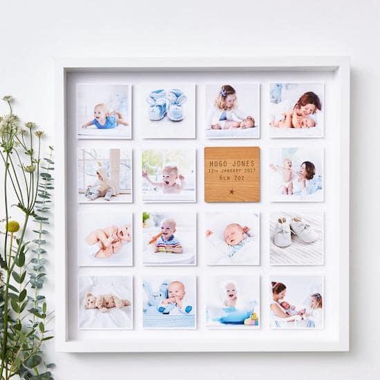 Impression photo de bébé encadrée personnalisée