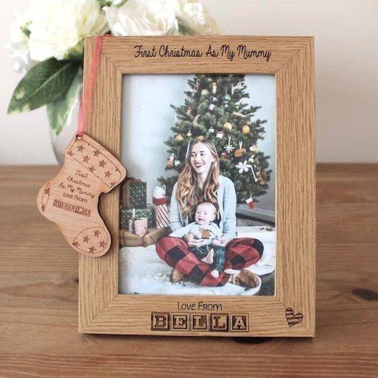 Cadre photo de Noël spécial cadeau de Noël pour bébé - Créatrice ETSY : Etchandcutt