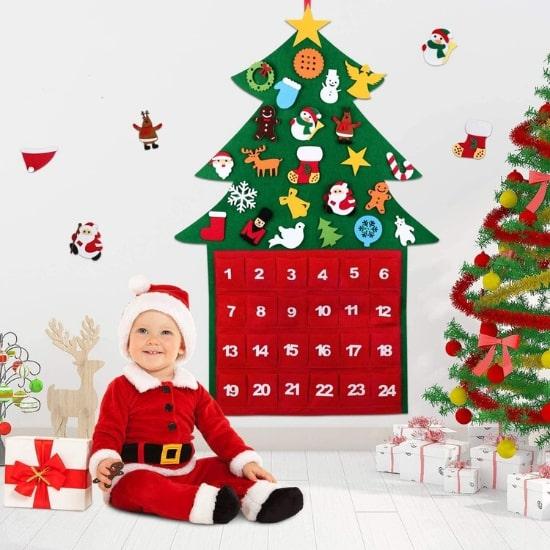 Calendrier de l'Avent pour bébé Arbre de Noël