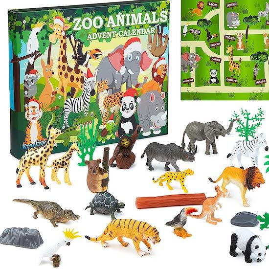 Calendrier de L'Avent pour bébé avec Animaux du Zoo KreativeKraft