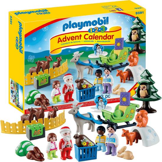 Calendrier de l'Avent pour bébé Playmobil 9391 Père Noël et les animaux de la forêt