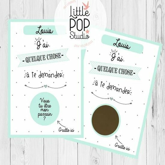 Carte à gratter annonce grossesse – LittlepopstudioFR