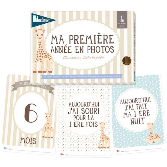 "Cartes Photos ""Ma première année en photos"" collection Sophie la girafe"